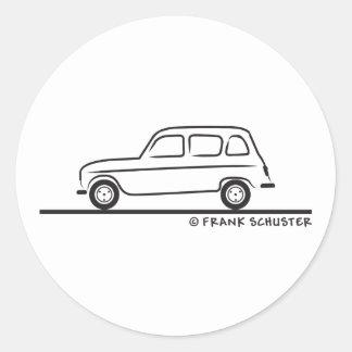 Renault R4 Runt Klistermärke
