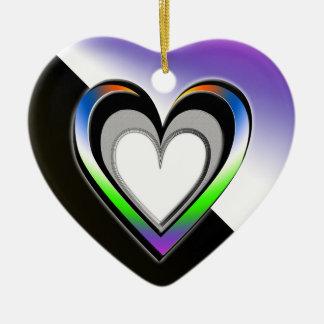 Renhet Hjärtformad Julgransprydnad I Keramik