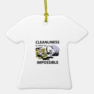 RENLIGHETEN ÄR  T-Shirt FORMAD JULGRANSPRYDNAD I KERAMIK