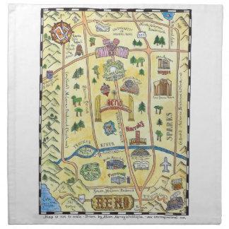 Reno Nevada kartaservetter Tygservett