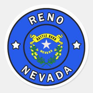 Reno Nevada Runt Klistermärke