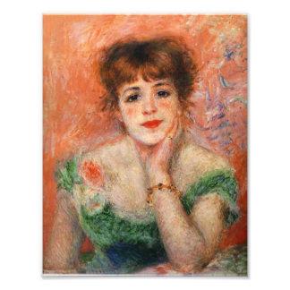 Renoir Jean Samary i ett Low hånglat klänningtryck Fototryck