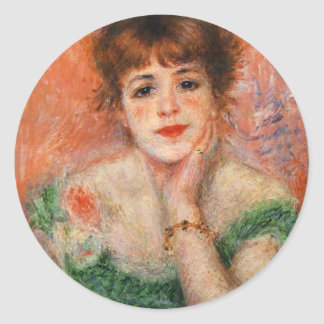 Renoir Jean Samary i Low hånglade klistermärkear Runt Klistermärke
