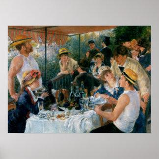 Renoir Luncheon av roddpartykonsten Poster