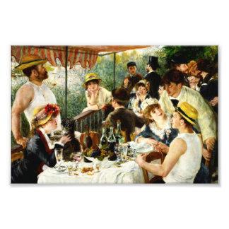 Renoir Luncheon av trycket för roddpartyfoto