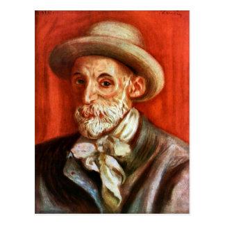 Renoir - självporträtt 1910 av Pierre Renoir Vykort