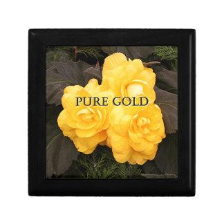 Rent guld: gul begoniablomma smyckeskrin