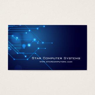 Reparerar den ljusa datoren Circuits3 för blått Visitkort