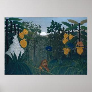 Repasten av det lejont - Henri Rousseau Affischer