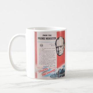 Reprint av den brittiska krigstidaffischen kaffemugg