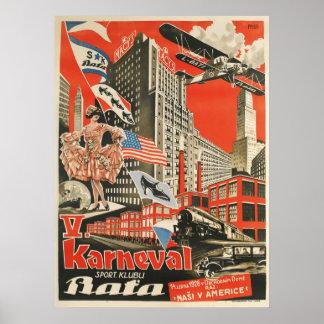 Reprint av en gammal sovjetisk tjeckisk poster