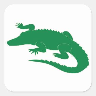 Reptil för krokodilalligatoralligator fyrkantigt klistermärke