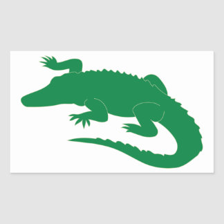Reptil för krokodilalligatoralligator rektangulärt klistermärke