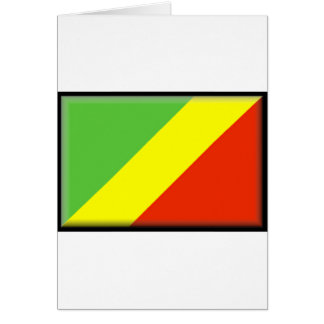 Republic of the Congo flagga Hälsningskort
