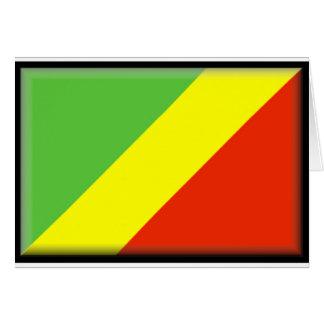 Republic of the Congo flagga Hälsningskort