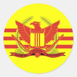 Republik av den södra Vietnam krigsmaktflagga Runt Klistermärke