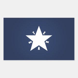 Republik av Texas Rektangulärt Klistermärke