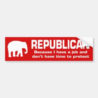 Republikan - därför att jag har ett jobb bildekal