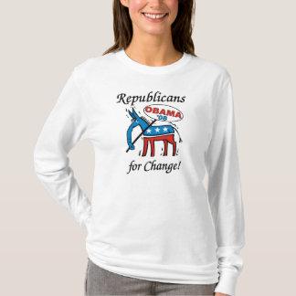 Republikaner för ändring röstar Obama LS Hoody T-shirts