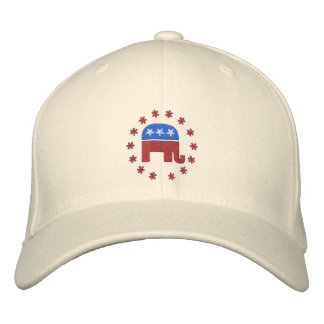 Republikansk elefant med den politiska broderad keps