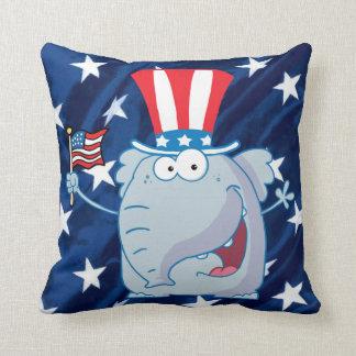 republikansk elefanttophat kudder kudde