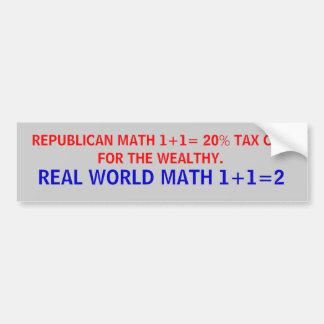 Republikansk för math verklig världmath. kontra bildekal