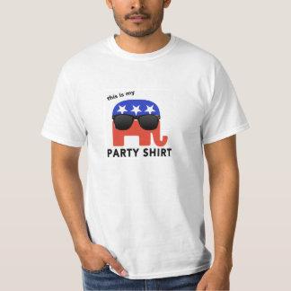 """Republikansk """"partyskjorta """" för GOP, T Shirts"""