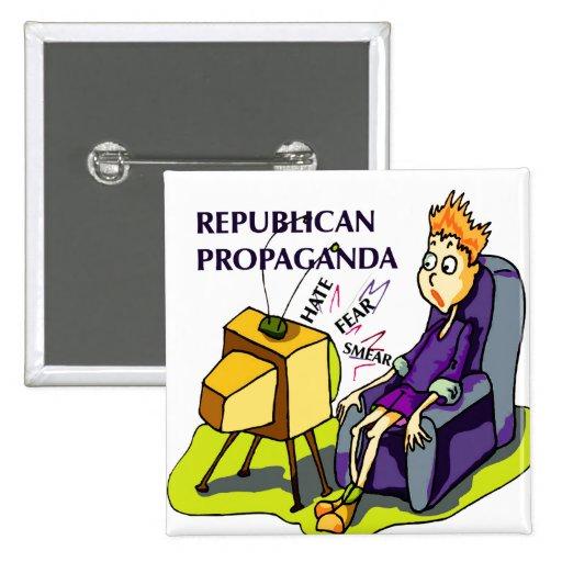 Republikansk propaganda knäppas nål