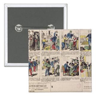Republikansk propaganda standard kanpp fyrkantig 5.1 cm