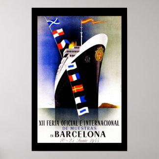 Resa affischvintage Barcelona Spanien