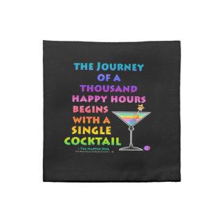 Resa av tusen Martini för lyckliga timmar Zen Amer Tygservett