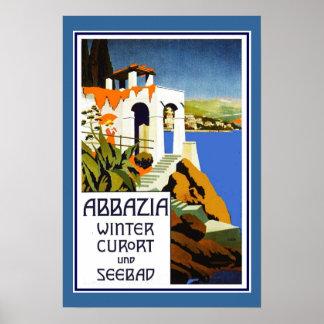 Resa den affischvintageAbbazia italien