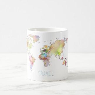 Resa den färgrika världskartamuggen kaffemugg