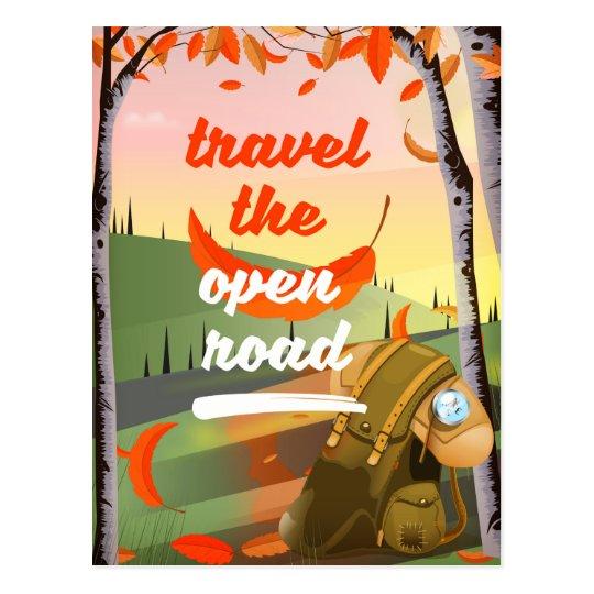 Resa den öppna vägfotvandringen vykort