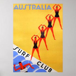Resa den vintageAustralien affischen Poster
