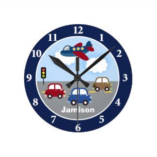 Resa det Time transporttemat som den beställnings- Rund Klocka