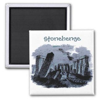 Resa kylen för text för |Stonehenge-porträtt den Magnet