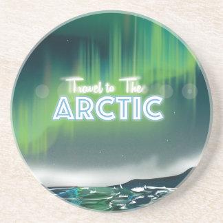 Resa till arktisken reser affischkonst underlägg sandsten