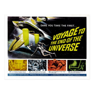 Resa till avsluta av universum vykort