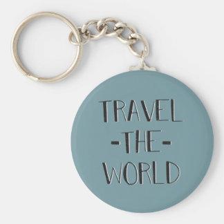 Resa världen Keychain Rund Nyckelring