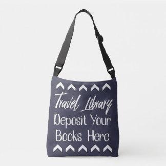 Resande bibliotek axelväska