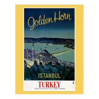 Reser den guld- hornen Istanbul Turkiet för Vykort