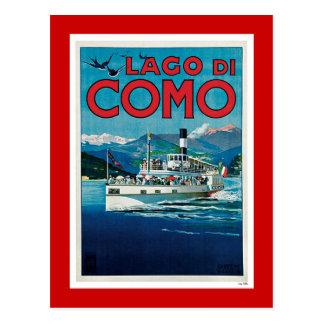"""""""Reser den Lago di Como"""" vintageitalienare Vykort"""