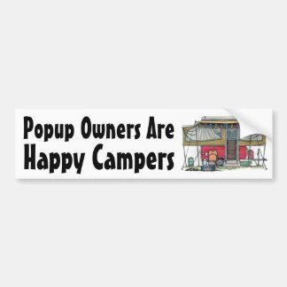 Reser den Popup camparen för gullig RV-vintage slä Bildekal