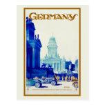 Reser den retro Berlin för vintage Tysklandet Vykort
