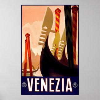 """""""Reser den Venedig"""" vintageitalienare affischen Poster"""