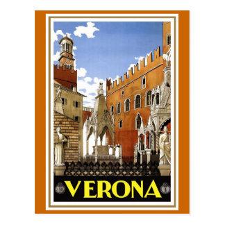 """Reser den Verona"" vintageitalienare affischen Vykort"