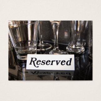 Reserverad visitkort för restaurang