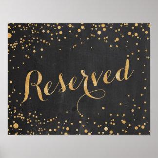 Reserverat bröllop undertecknar poster