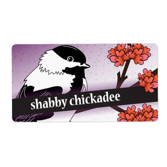 Reserverat för den sjaskiga ChickadeeEtsy säljare Fraktsedel